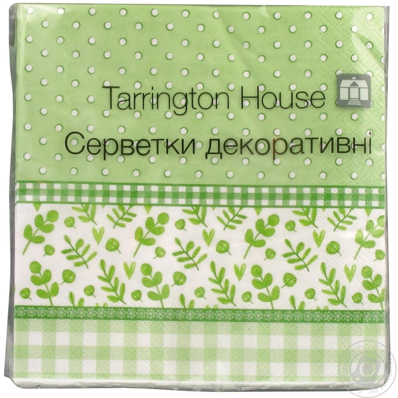 Купить 623, Серветки Silken паперові Тартан 3шар. 18шт х18, Tarrington House