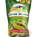 Vegetables cucumber cornichon Dolina jelaniy canned 500g doypack