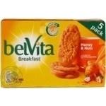 Печенье Belvita с медом и орехами 225г