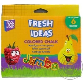 Мел цветной Cool for school fresh ideas 6шт - купить, цены на Метро - фото 1