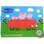 Альбом для малювання 24 арк. Peppa Pig Перо 118226