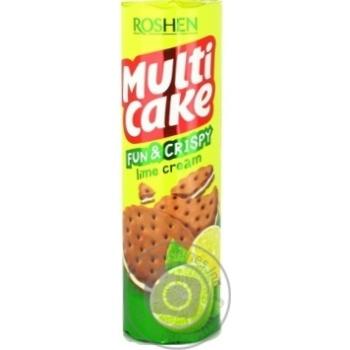 Крекер Roshen Multicake с лаймовой начинкой 135г