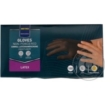 Перчатки METRO Professional латексные одноразовые черные размер L 100шт