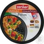 Форма для пиццы Zenker перфорированная с тефлоновым покрытием d32см