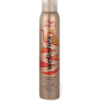 Пена Веллафлекс для горячей укладки супер сильной фиксации для волос 200мл