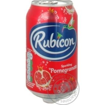 Напиток Rubicon сильногазированый со вкусом граната ж/б 0,33л