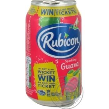 Напиток Rubicon сильногазированый со вкусом гуавы ж/б 0,33л