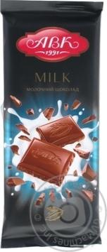 Шоколад молочный АВК 90г