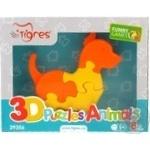 Игрушка развивающая Tigres 3D Головоломки Животные 8 элементов