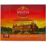 Чай Hyleys Англійський сніданок чорний цейлонський в пакетиках 100*2г