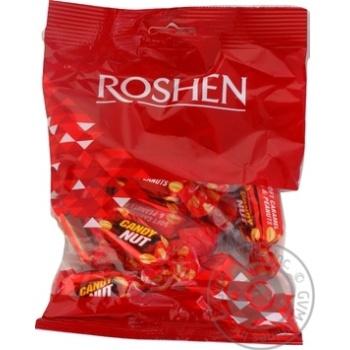 Конфеты Roshen Candy Nut глазурованная мягкая карамель с арахисом 160г