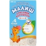Malysh for 4+ month babies with rice flour dry milk 350g