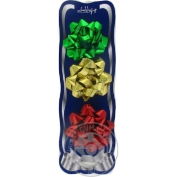 Happycom Decoration Set For Gifts 3 Confetti Bows - buy, prices for Tavria V - image 2