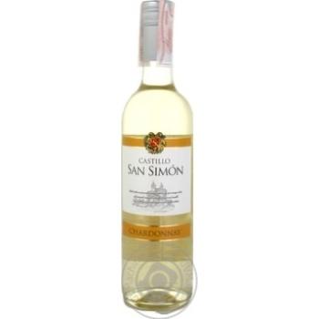 Вино Castillo San Simon Chardonnay белое сухое 11.5% 0,75л - купить, цены на СитиМаркет - фото 1