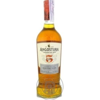 Ром Angostura Карибский 5 лет 37,5% 0,7л