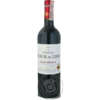 Вино GVG Chateau Fleur de Lisse Saint-Emilion AOC 12% 0,75л