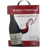 Вино Baron d Arignac Cabernet Sauvignon красное сухое 12% 5л