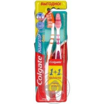 Зубна щітка Colgate Navigator Plus 1+1