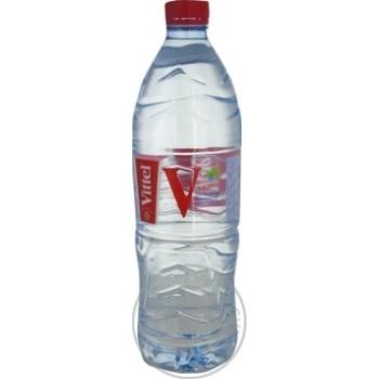 Still natural mineral water Vittel plastic bottle 1000ml France