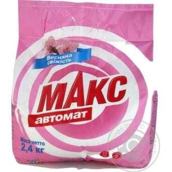 Порошок стиральный Макс Весенняя свежесть автомат 2,4кг - купить, цены на МегаМаркет - фото 1