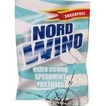 Цукерки-пастiлки Nord Wind освіжаючі зі смаком м'яти без цукру 25г