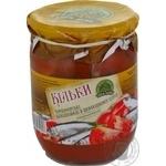 Fish sprat Dary laniv in tomato sauce 500g glass jar