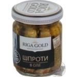 Sprats Ryzhske zoloto in oil 100g glass jar