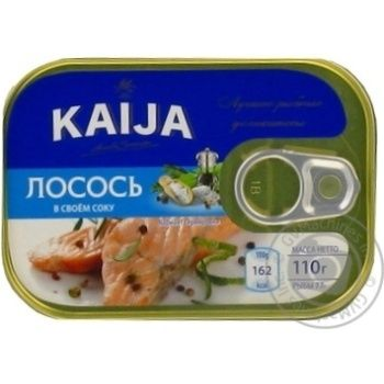 Kaija canned in own juice fillet salmon 110g