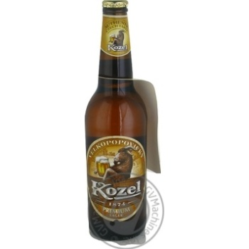 Kozel Premium Lager Light Foltered Beer 4.5% 0.5l - buy, prices for MegaMarket - image 1