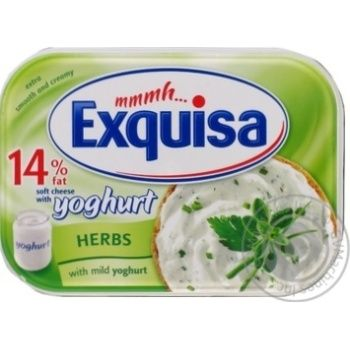 Cheese Exquisa Cream with herbs with herbs 14% 200g - buy, prices for Furshet - image 1