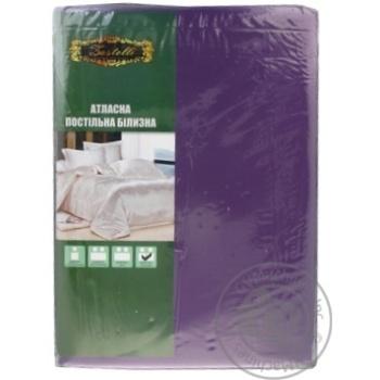 Комплект постільної білизни матовий атлас сімейний МИКС - купить, цены на МегаМаркет - фото 1