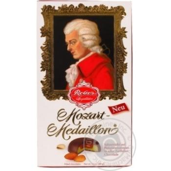 Конфеты Reber Моцарт-медальоны с марципаном в темном шоколаде 10шт 100г