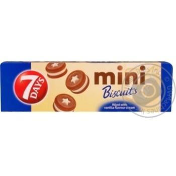 Печенье 7 Days Mini Biscuits с ванильным кремом 100г