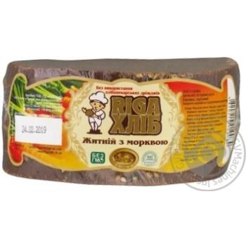 Хлеб Riga Ржаной с морковью 220г - купить, цены на Novus - фото 1