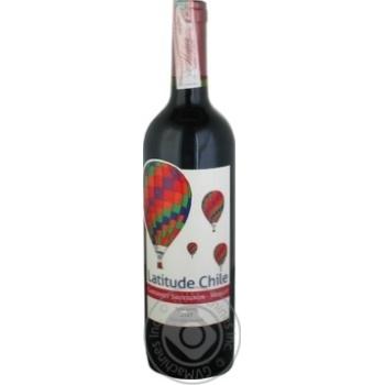 Latitude Chile Cabernet Sauvignon-Merlot Red Semi Sweet Wine 11.5% 0.75l