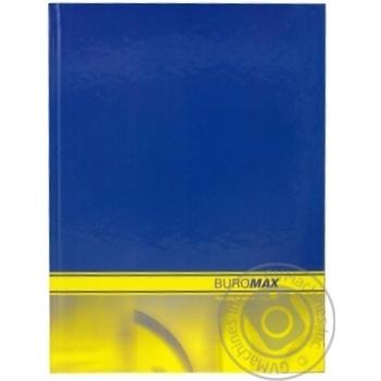 Книга обліку 192арккліт.оф.(тв. лам. обл) А4 BUROMAX