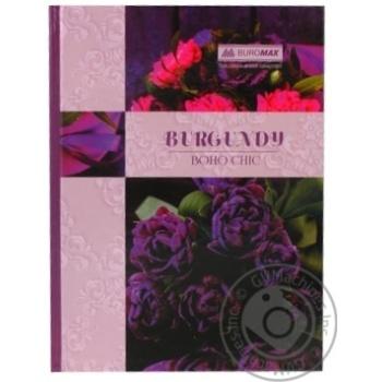 Книга обліку BOHO CHIC 96 арк/кліт.оф.тв. лам. обкл, А4, асс BUROMAX