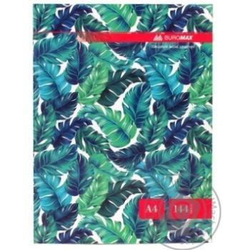 Книга обліку FLORISTICA 144 арк.кліт.оф.(тв. лам. обл) А4 бірюзо
