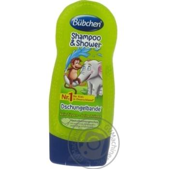 Шампунь детский Bubchen Вызов джунглей для мытья волос и тела 230мл