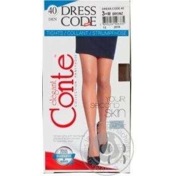 Conte Dress code Women's Tights 40 den 3 bronz - buy, prices for MegaMarket - image 1