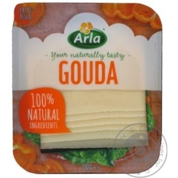 Сыр Arla Гауда твердый нарезанный ломтиками 48% 150г