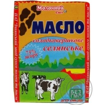 Molochny Svit Peasant Sweet Cream Butter 73% 200g - buy, prices for CityMarket - photo 3