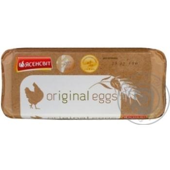 Яйцо куриное Ясенсвит Ориджинал Эгс С0 10шт (цвет товара на фото может отличаться от цвета товара на полке)