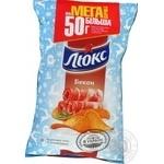 Чіпси картопляні Люкс зі смаком бекону 183г