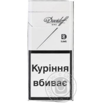 Цигарки Davidoff One Slims - купити, ціни на Novus - фото 1