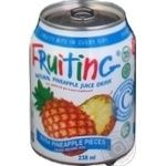Non-alcoholic non-carbonated juice-containing drink of pineapple juice Fruiting can 238ml Russia