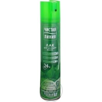 Лак для волос Чистая линия Экстрафиксация 200мл