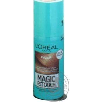 Спрей L'Oreal Magic Retouch тонирующий русый для мгновенного закрашивания отросших корней волос 75мл