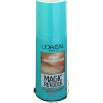 Спрей L'Oreal Magic Retouch тонирующий очень светло-русый для мгновенного закрашивания отросших корней волос 75мл