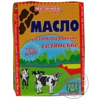 Масло Молочний світ селянське солодковершкове 73% 200г